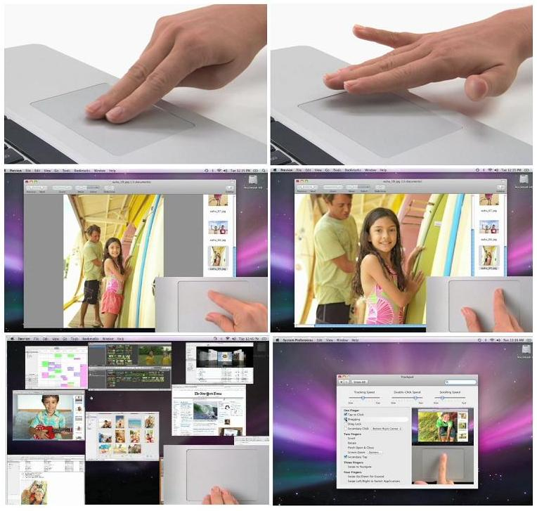 IMAGE 3 - Collage of multi-touch trackpad wide