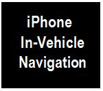 IPHONE IN-VEHICLE NAVIGATION ICON