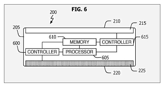 Stunning Nano-Phone Surfaces in Patent - fig 6 - July 2009