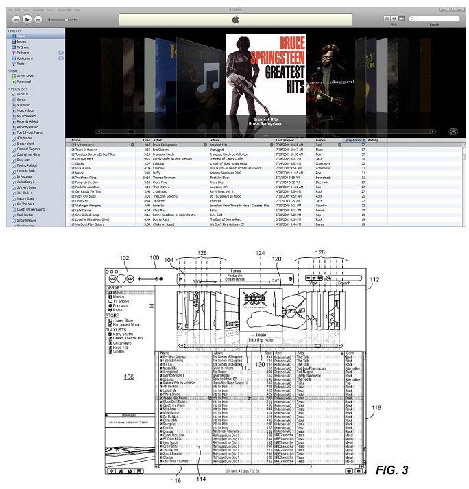 ITunes & Coverflow patent