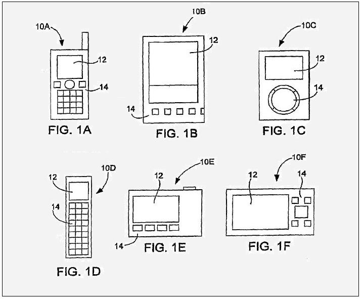 1A - 1F - CLASSIC APPLE PATENT FIGURE